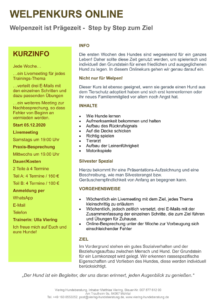 Bild des pdf Welpenkurs Online